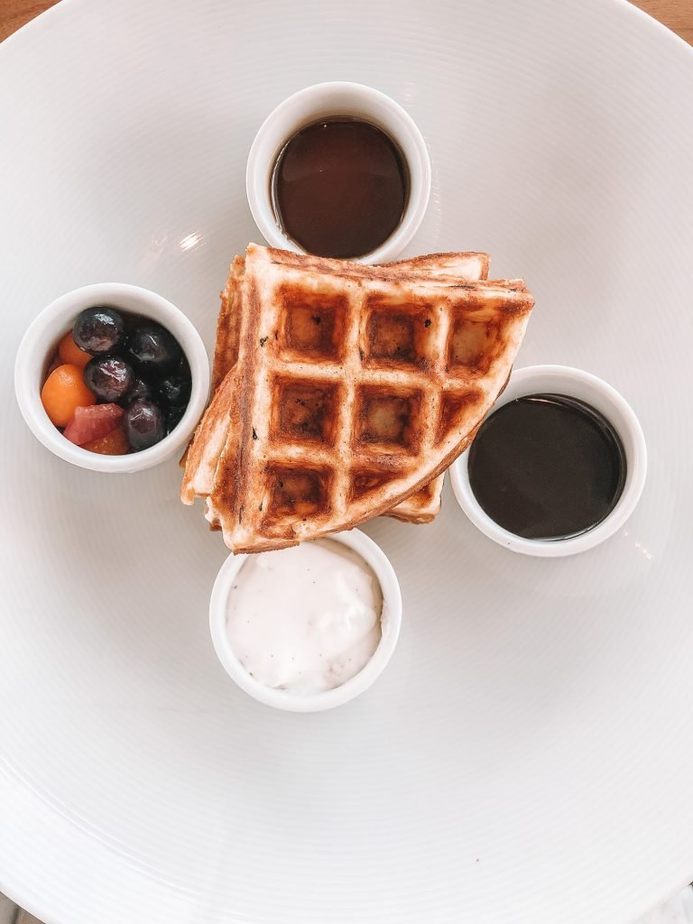 Belgian waffles from the best luxury beach resort in Anguilla