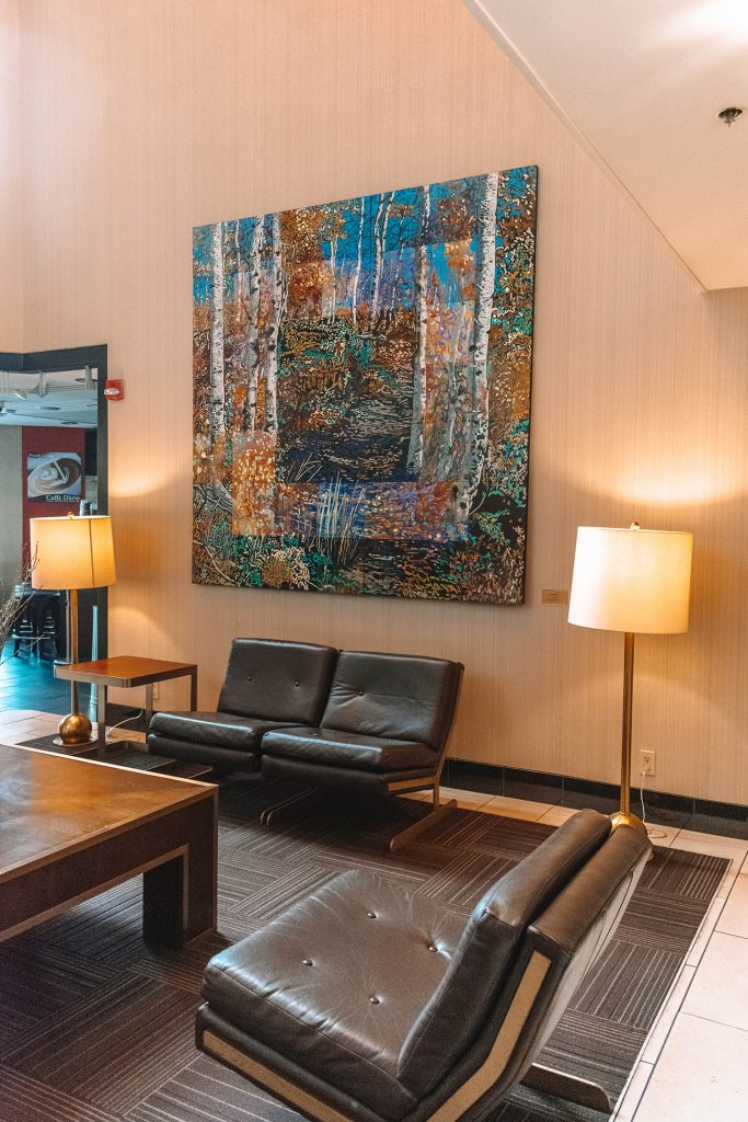 Hotel 43 lobby in Boise, Idaho