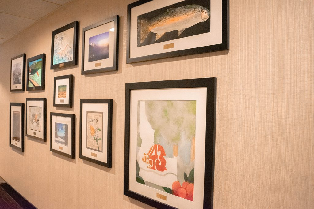 A local photo gallery at Hotel 43 in Boise, Idaho