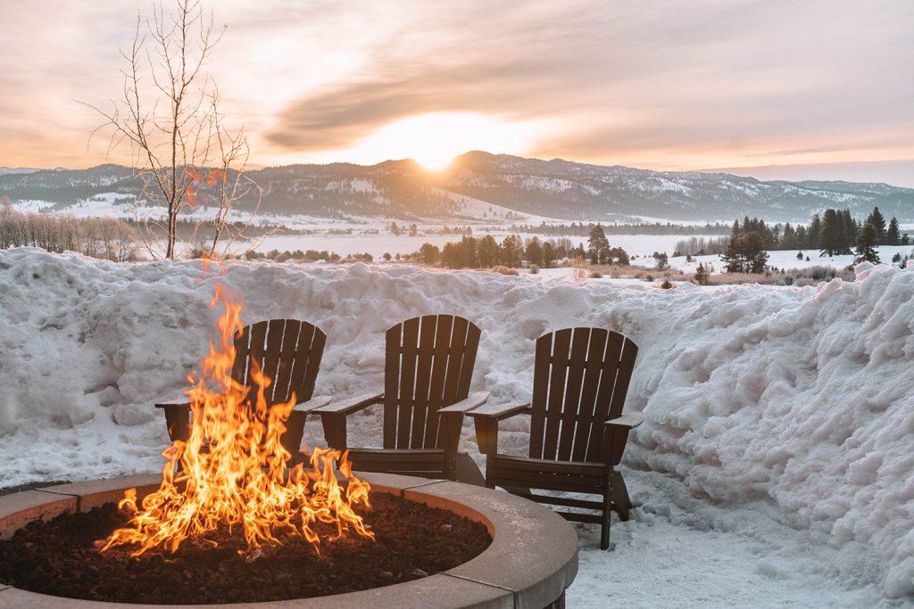 Tamarack Resort in Idaho during sunrise