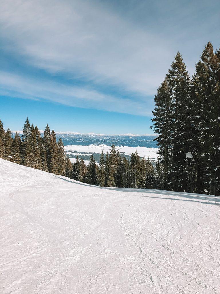 The ski slopes in Idaho