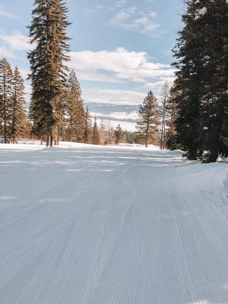The ski slopes at Tamarack Resort in Idaho