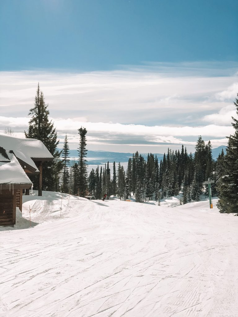 The views skiing in Idaho