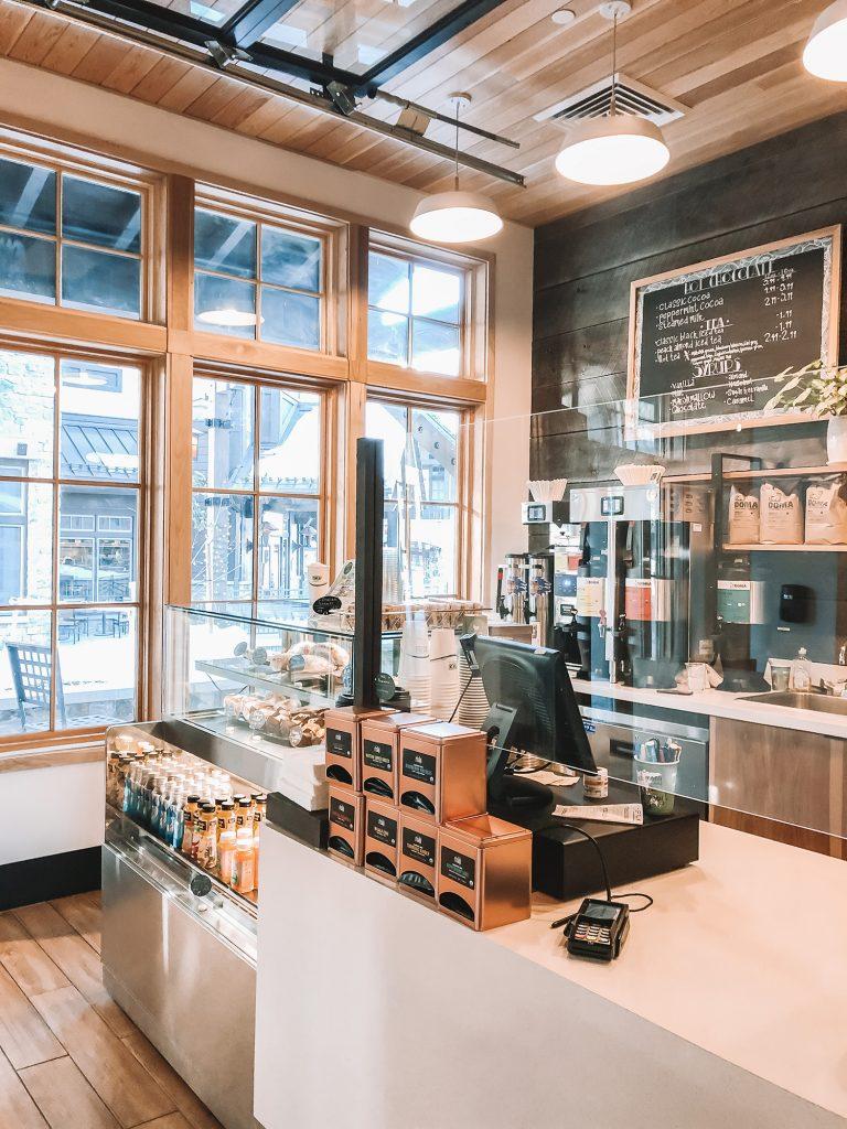 A coffee shop at Tamarack ski Resort