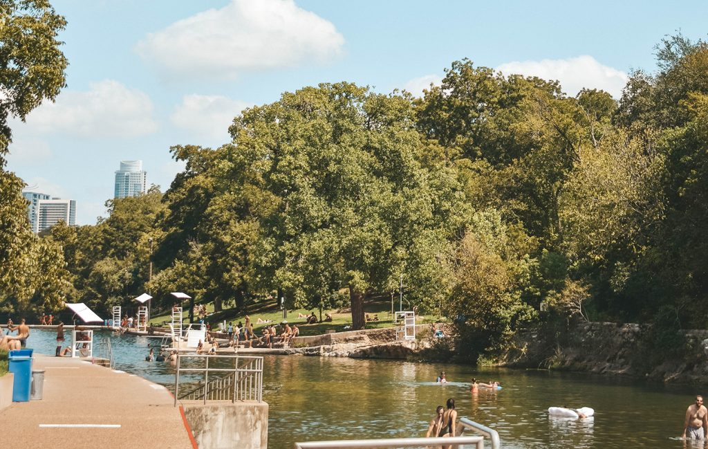 Barton Springs in Austin, Texas one of the best spring break destinations in the USA