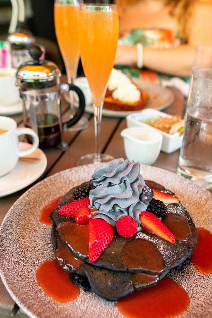 Charcoal pancakes from Basalt in Waikiki