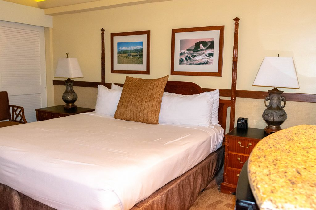 The hotel room at The Equus Hotel in Waikiki
