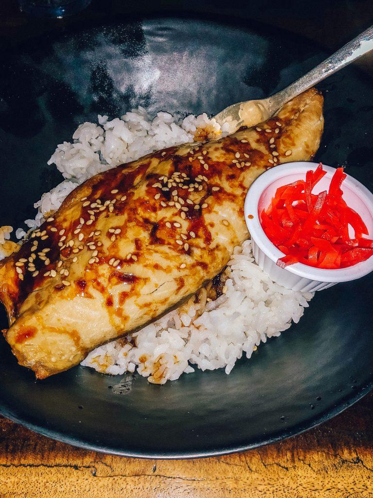 A fish dinner from Ko Tiki in Honolulu