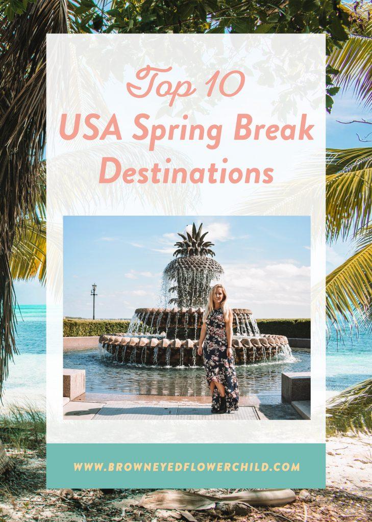 Top 10 USA spring break destinations