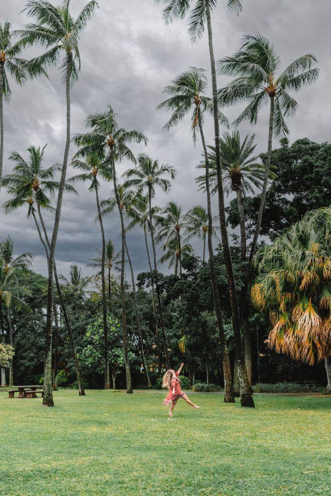 A woman at Ala Moana Park in Waikiki