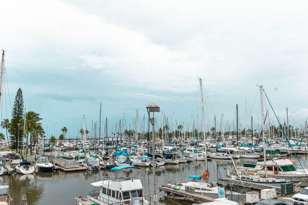 Ala Wai Boat Harbor in Waikiki, Oahu