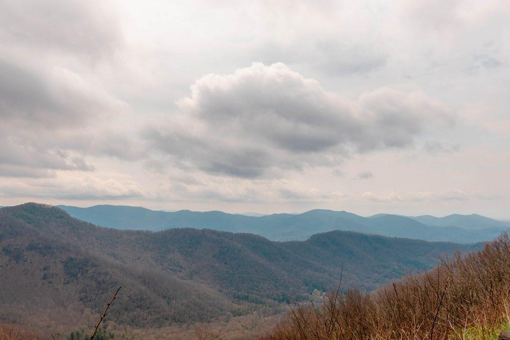 The Blue Ridge Parkway in Asheville, North Carolina.