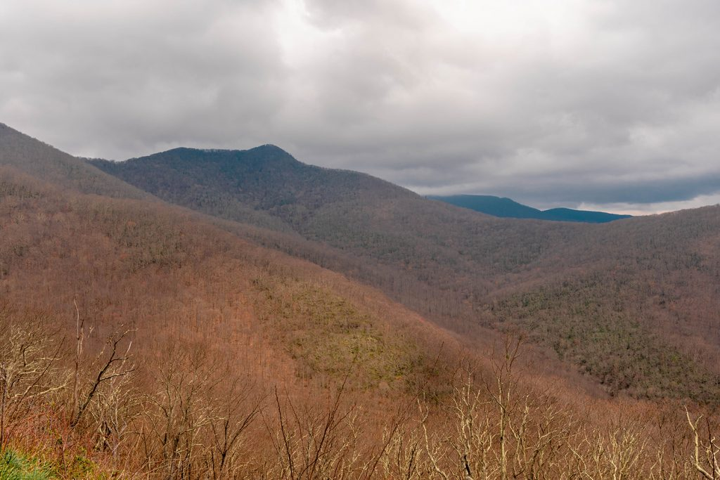 The Blue Ridge Parkway in North Carolina.