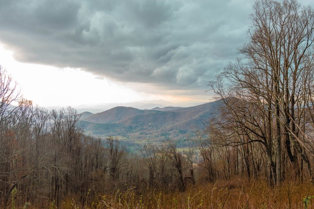 Hiking the Blue Ridge Parkway during a weekend in Asheville, NC.