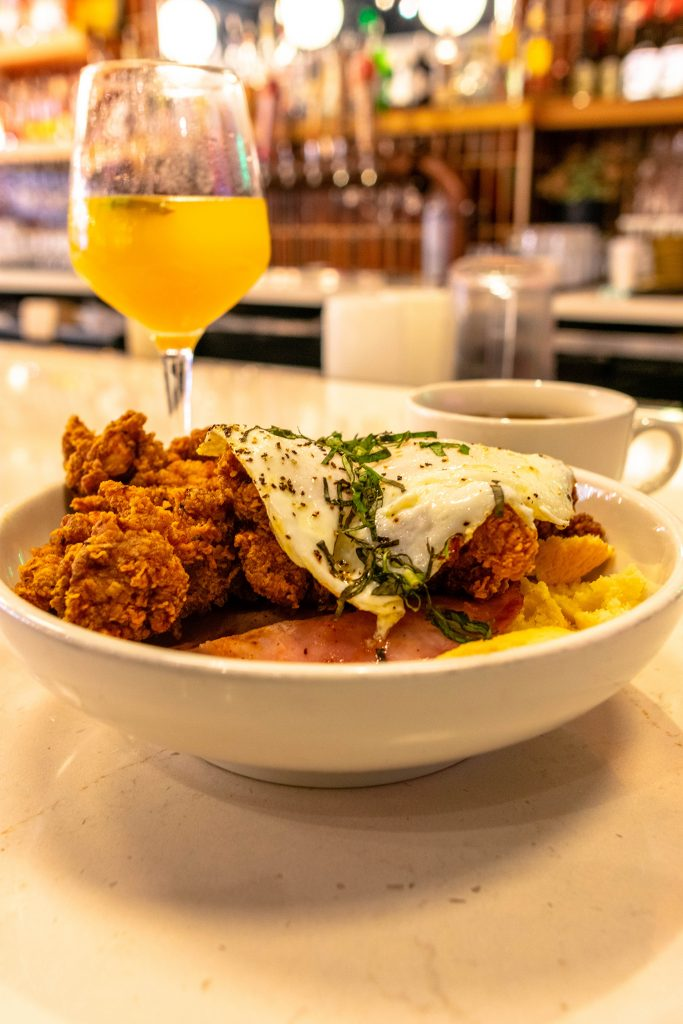 A Southern comfort brunch during a weekend in Asheville.