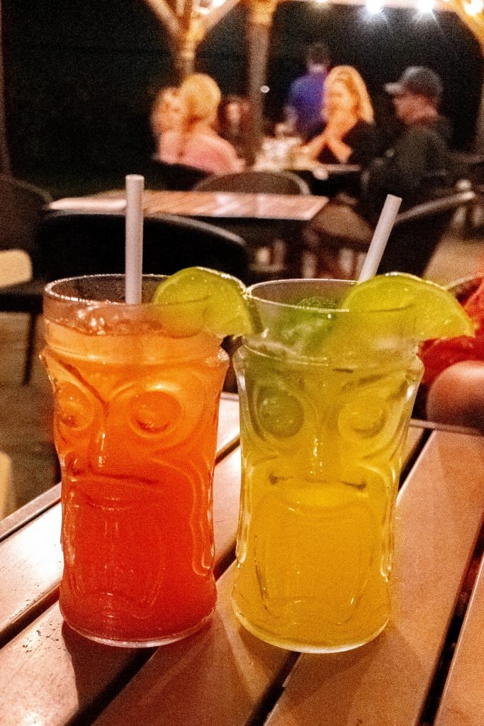Tropical drinks from Hana Ranch Restaurant
