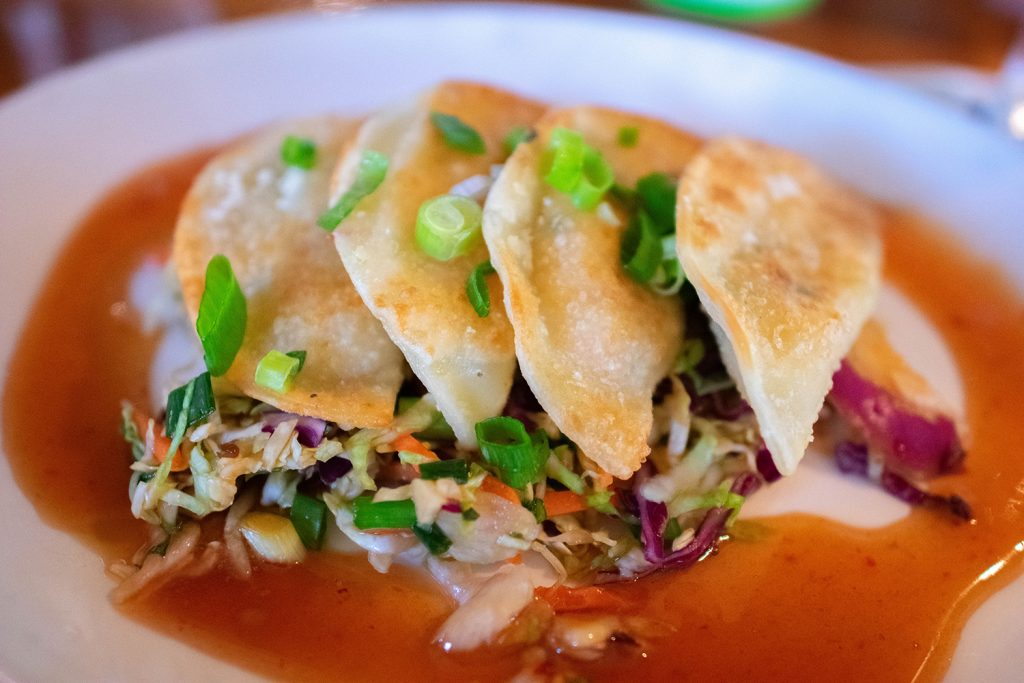 Seafood potstickers from Hula Grill in West Maui