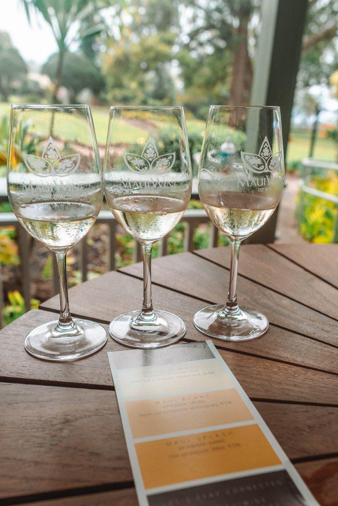 Pineapple wine tasting at Maui Wine