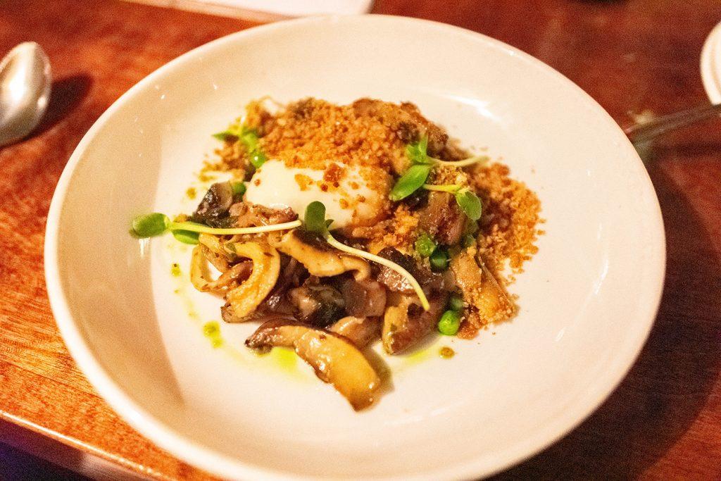 A mushroom tapas dish from an Asheville restaurant.