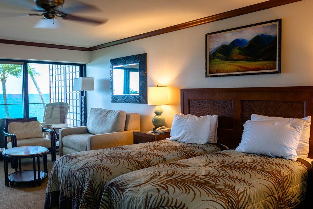 The Oceanfront Studio room at Napili Kai Beach Resort