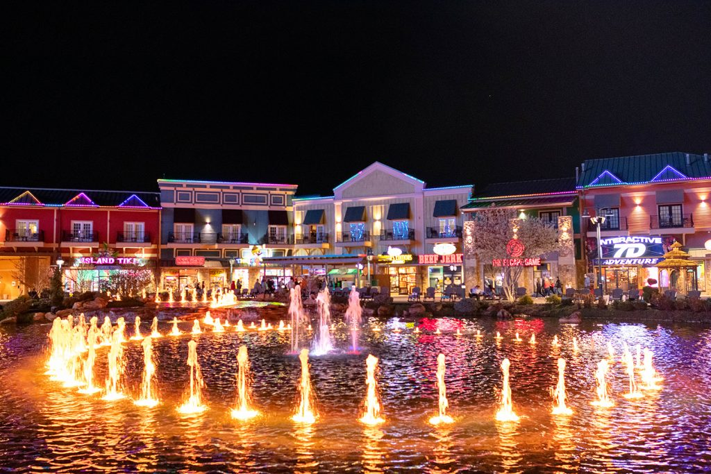 The Island in Pigeon Forge during 3 days in Great Smoky Mountains, Tennessee