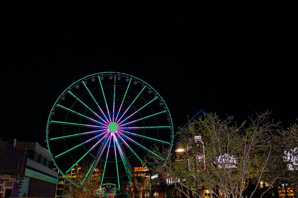 The Island in Pigeon Forge at nighttime