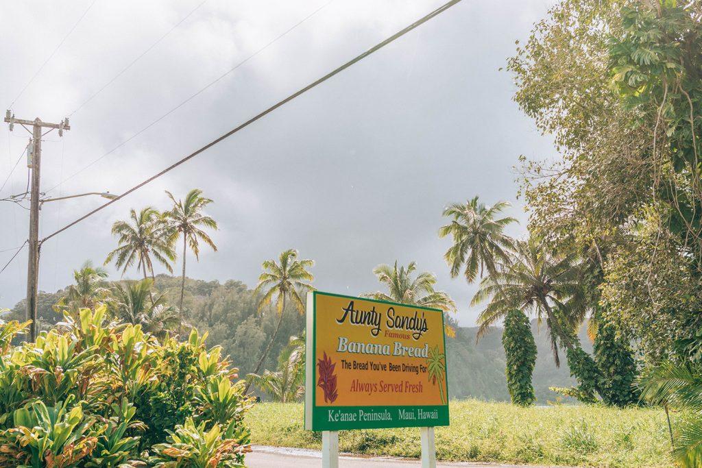 Aunty Sandy's Banana Bread on Road to Hana in Maui