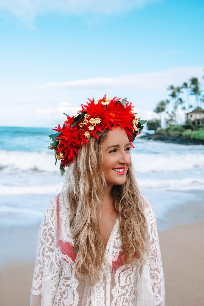 A woman enjoying her 10 day Oahu and Maui itinerary