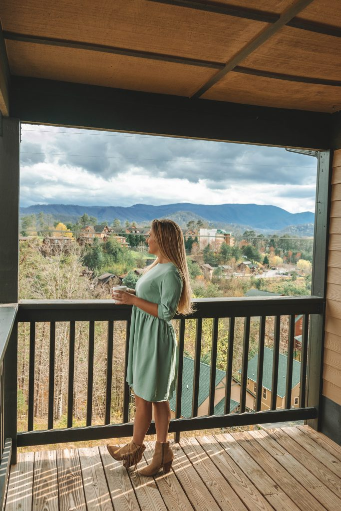 A woman enjoying 3 days in the Great Smoky Mountains at Yourcation Awaits