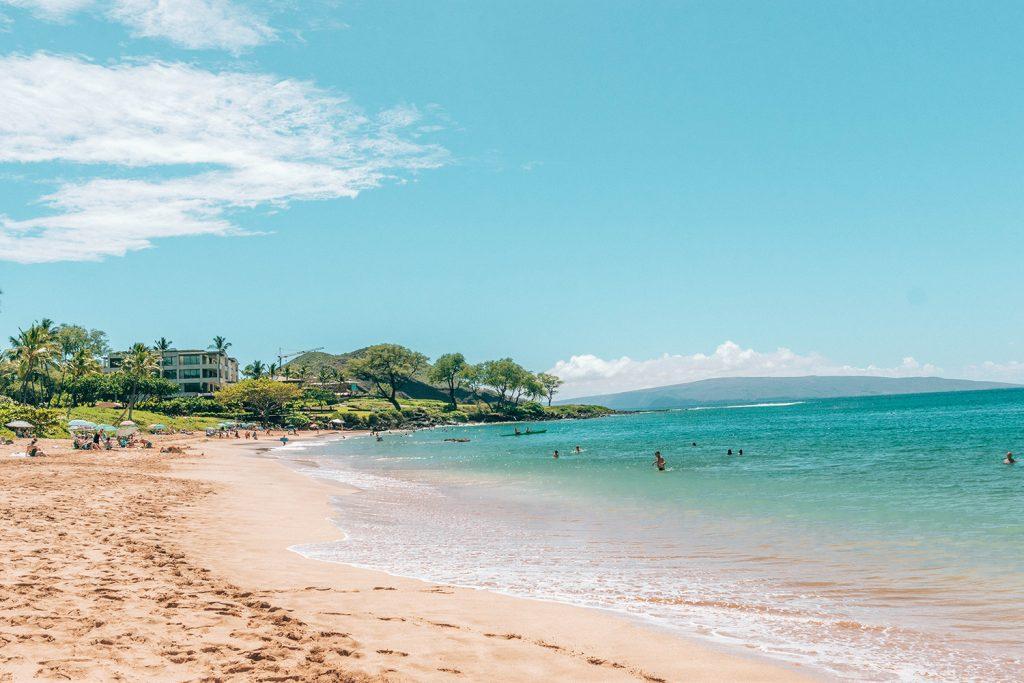 The beach at Wailea in Maui