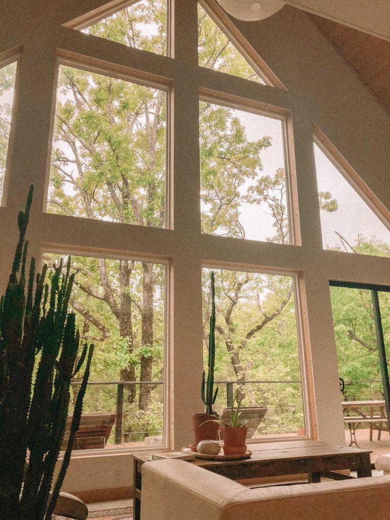 An A-frame cabin rental in Broken Bow, Oklahoma