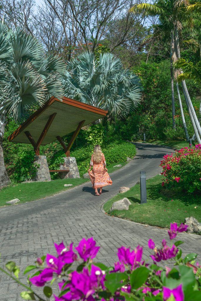 A woman enjoying her vacation on Peninsula Papagayo