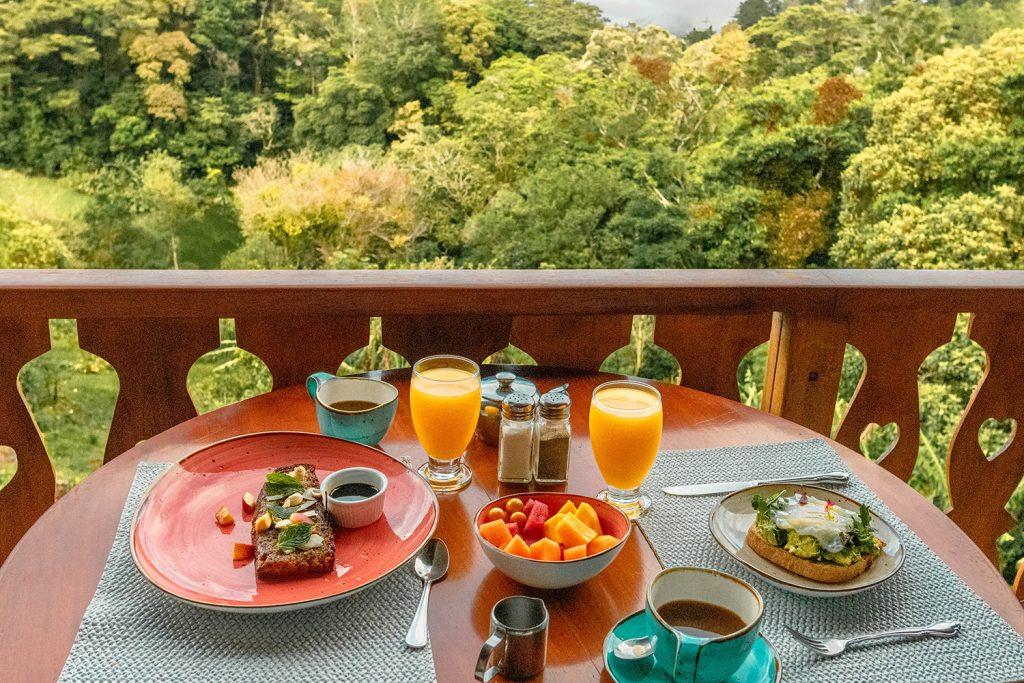Breakfast with a view at Hotel Belmar in Monteverde, Costa Rica