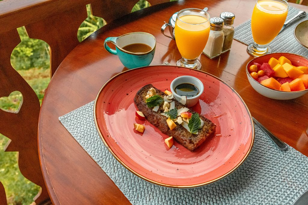 Caribbean French toast from Hotel Belmar