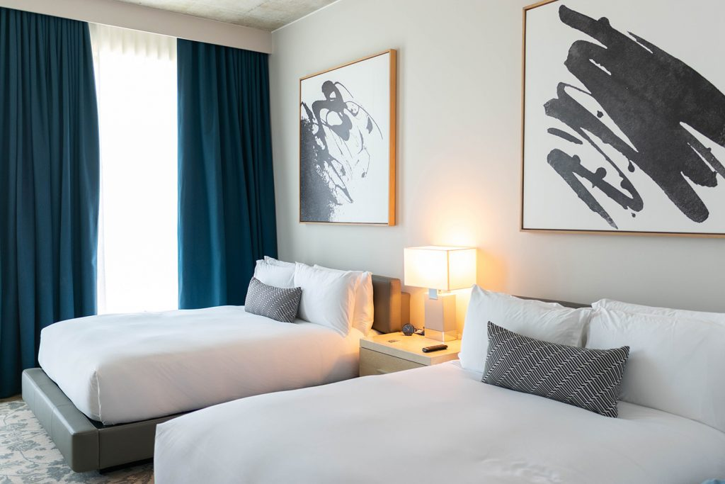The queen room at Kimpton Pittman Dallas for one day and night in the city
