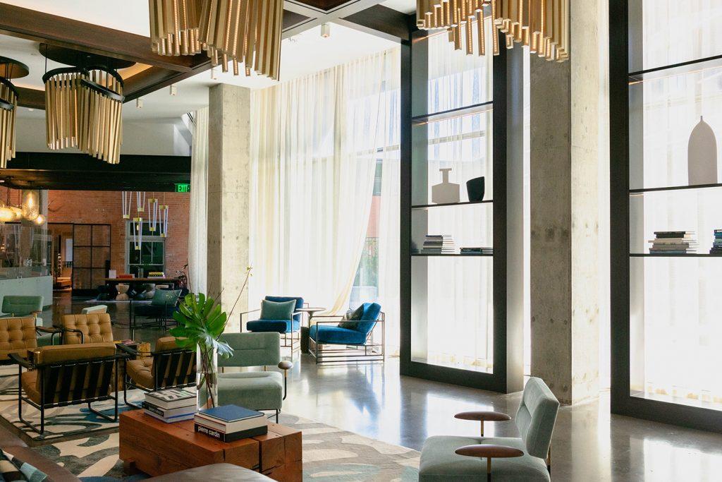 The lobby at Pittman Hotel Dallas