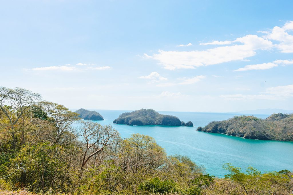 Views of Peninsula Papagayo from the Trail of Giants Tour through the exclusive Four Seasons Resort