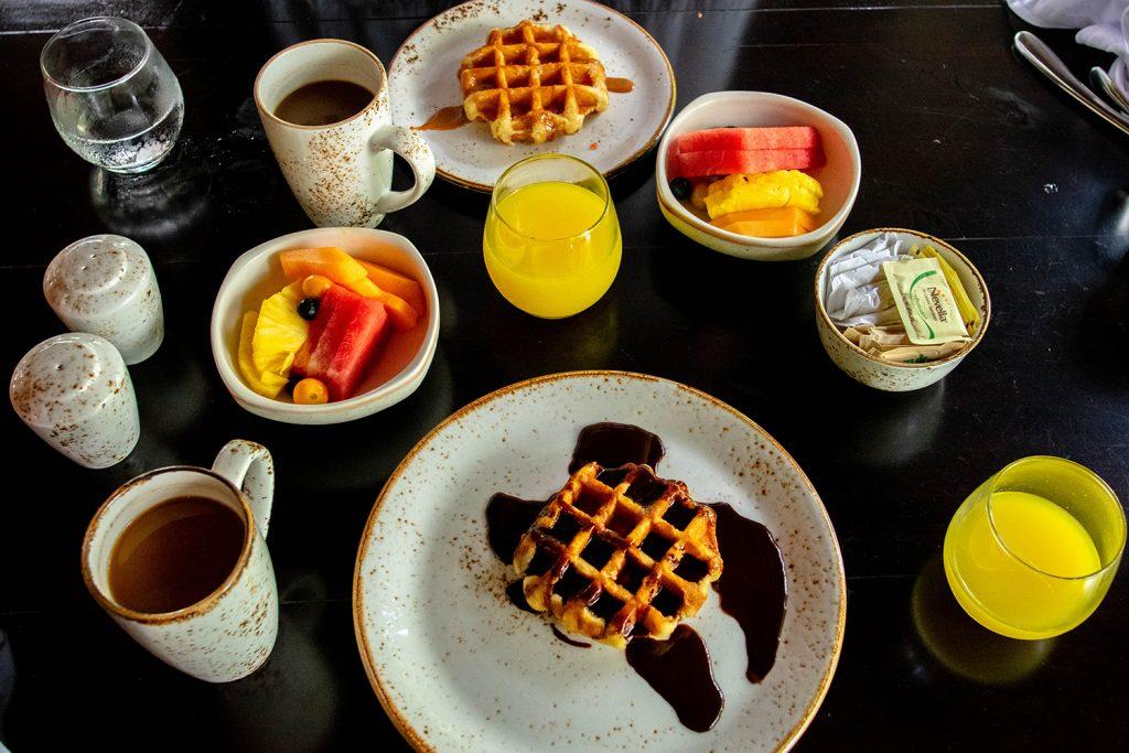 Liege waffles from Tabacon's breakfast