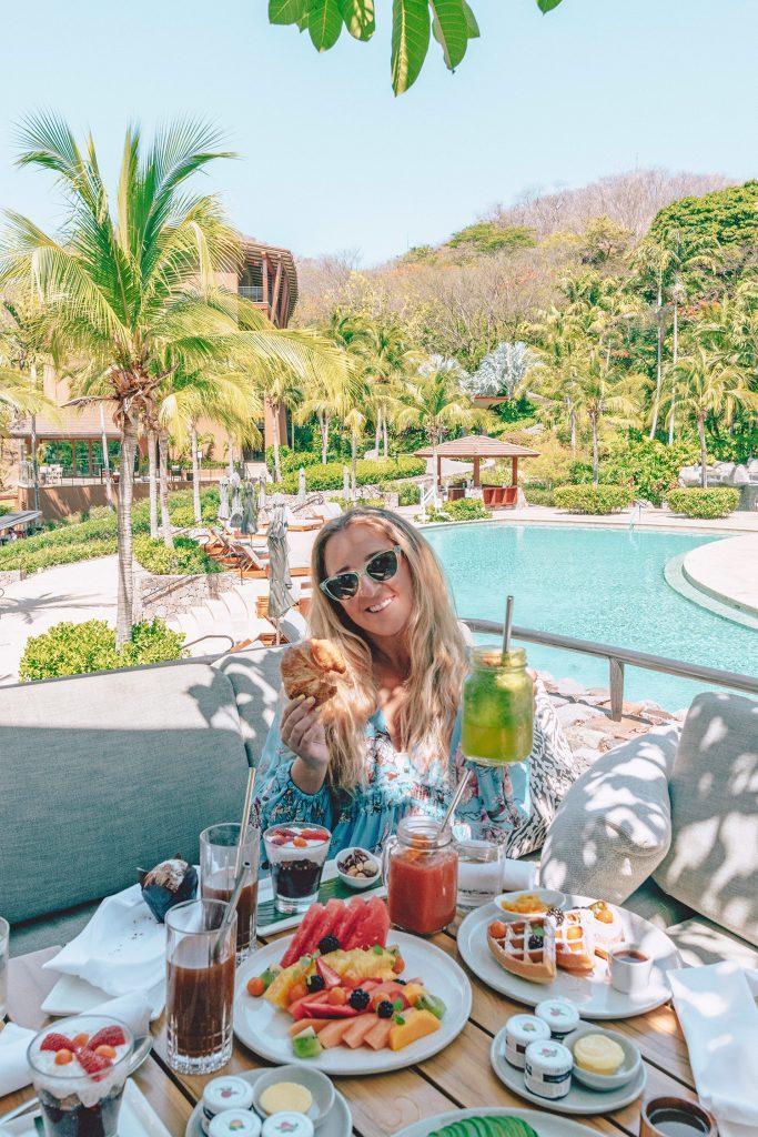 A woman enjoying a exclusive breakfast at Four Seasons Resort Costa Rica at Peninsula Papagayo