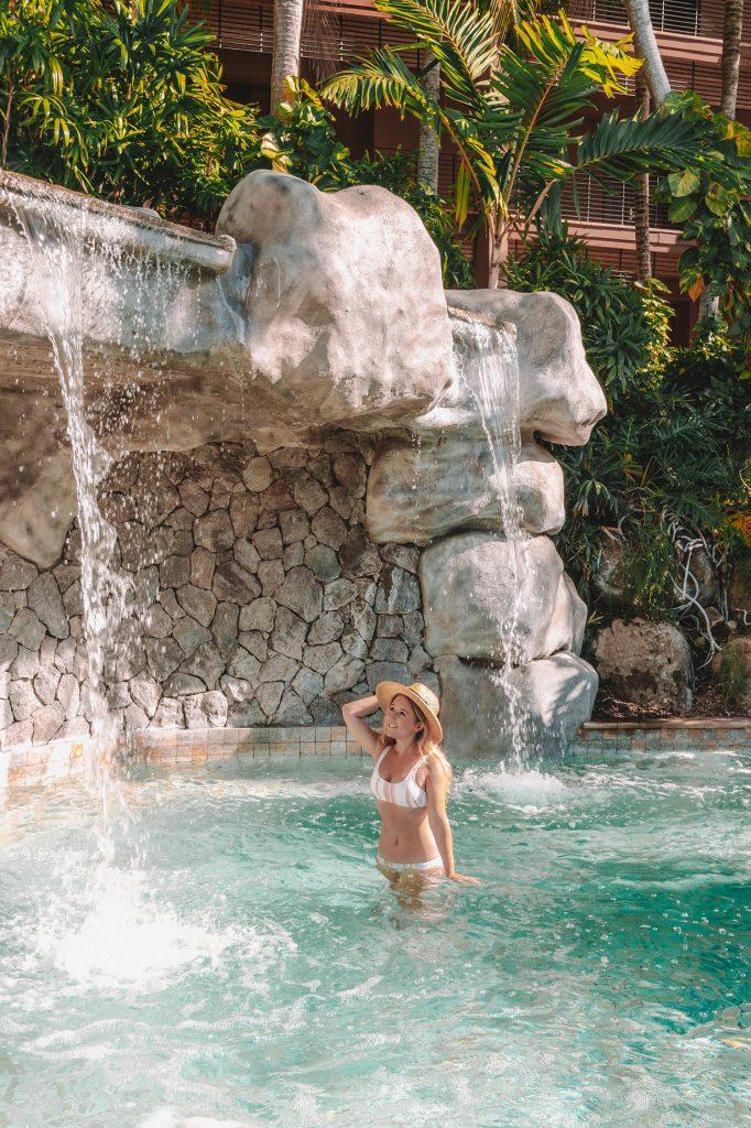 A woman enjoying the hot tub at Four Seasons Costa Rica