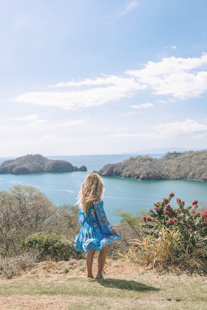 A woman enjoying the views of Peninsula Papagayo