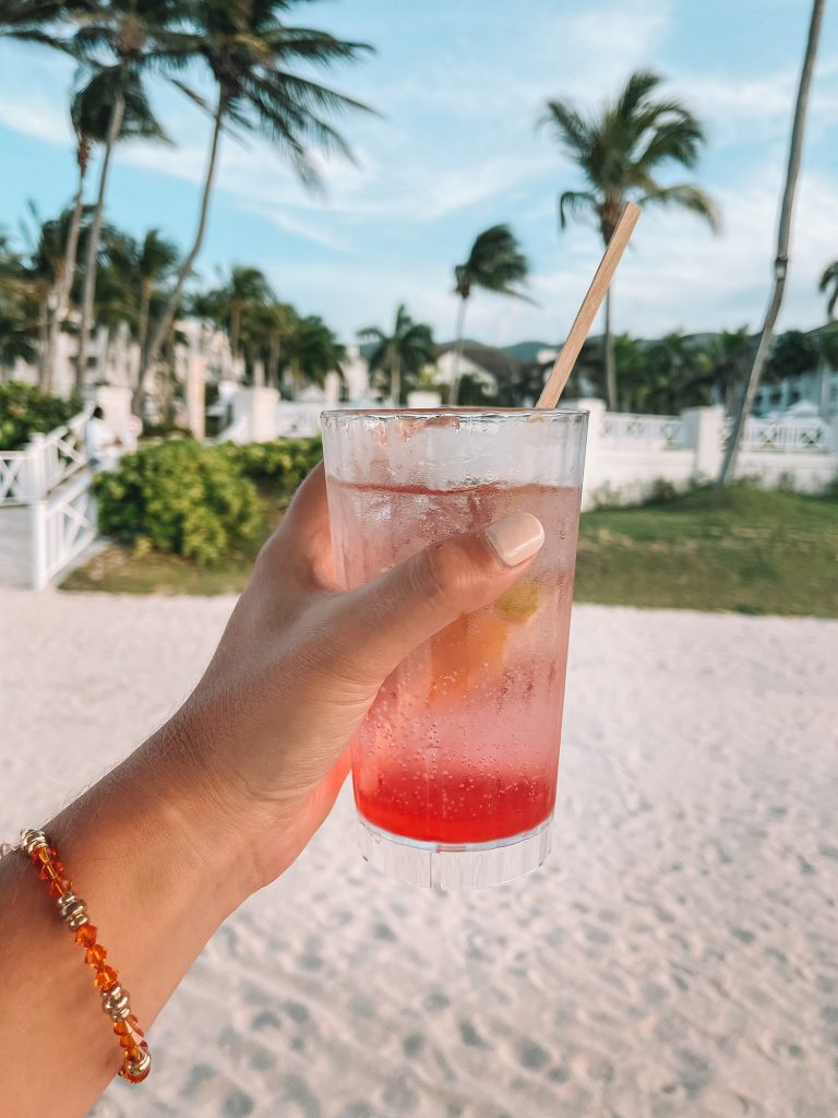 A tropical drink from an all inclusive resort in Montego Bay