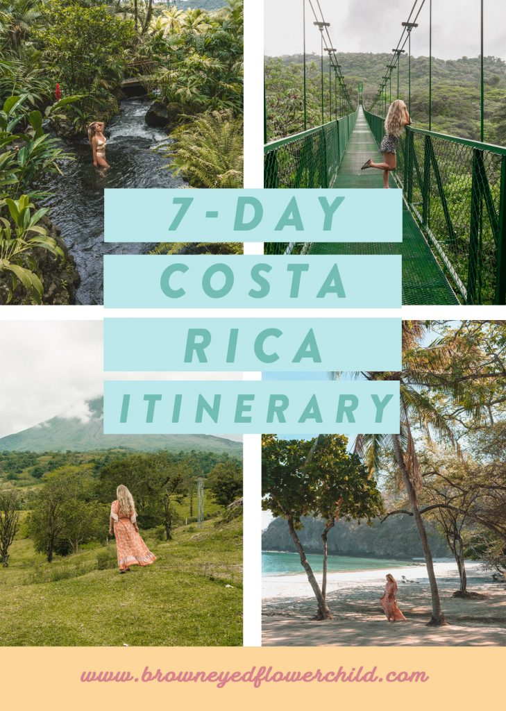 7 day Costa Rica itinerary