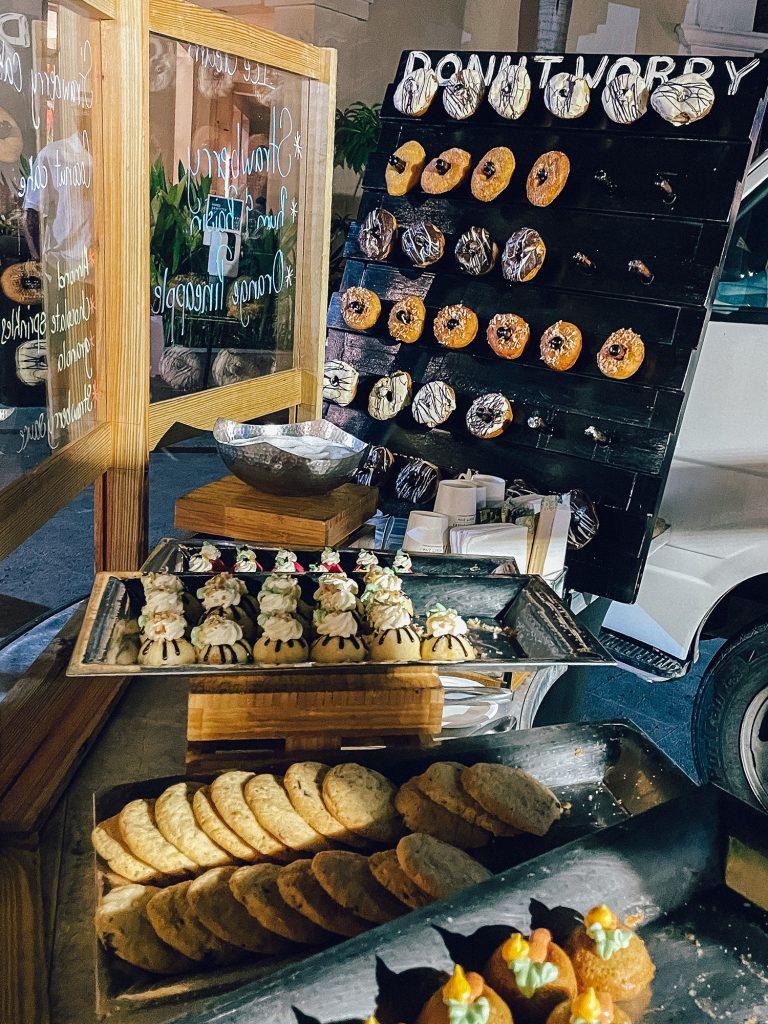 Donut bar foot cart at Hyatt Ziva Rose Hall