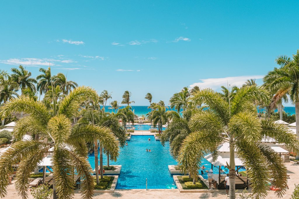 The pools at Hyatt Ziva Rose Hall All Inclusive in Montego Bay, Jamaica