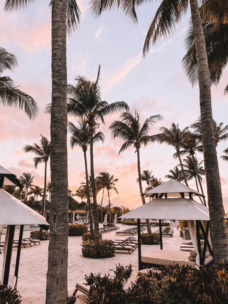 Sunset at Hyatt Ziva Rose Hall in Montego Bay