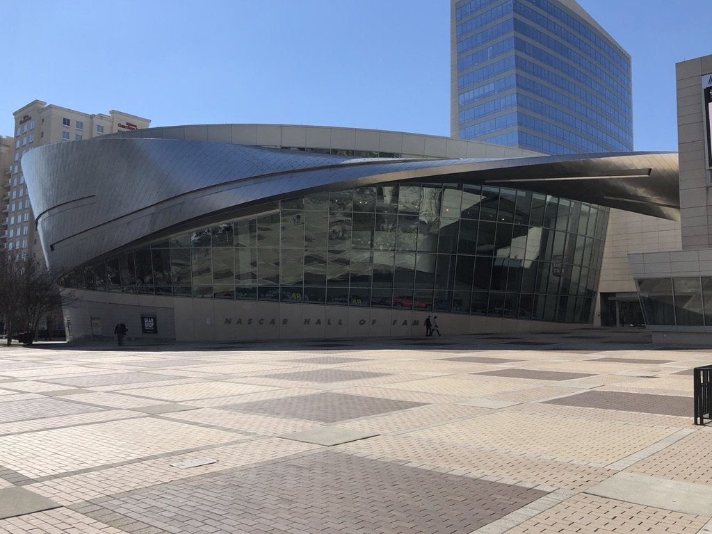 Visiting NASCAR Hall of Fame during one day in Charlotte, North Carolina
