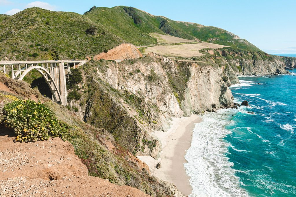Big Sur in California during a Santa Barbara to San Francisco road trip