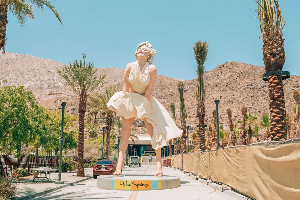 Marilyn Monroe Statue at Palm Springs Art Museum