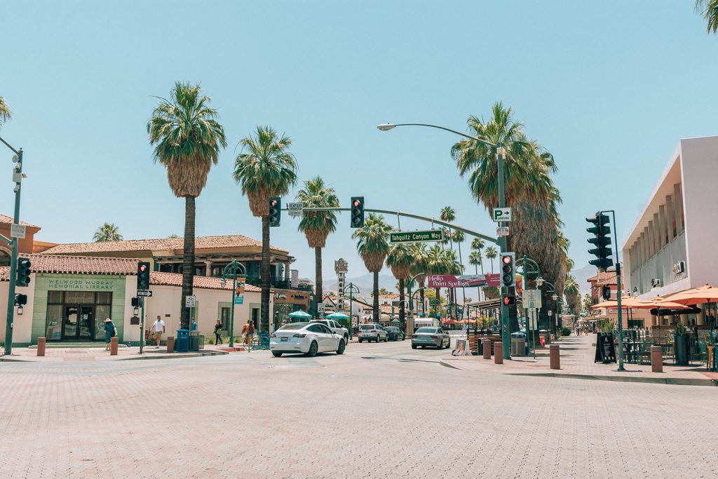 Downtown Palm Springs, California